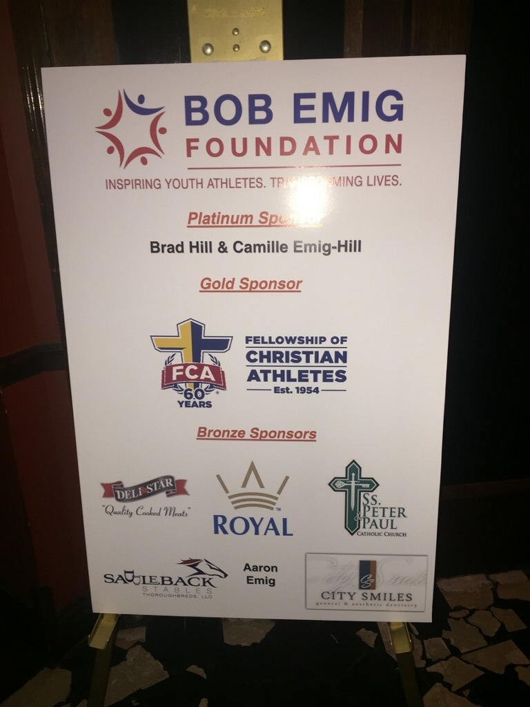 The 2015 Bob Emig Award for supporter of youth sports