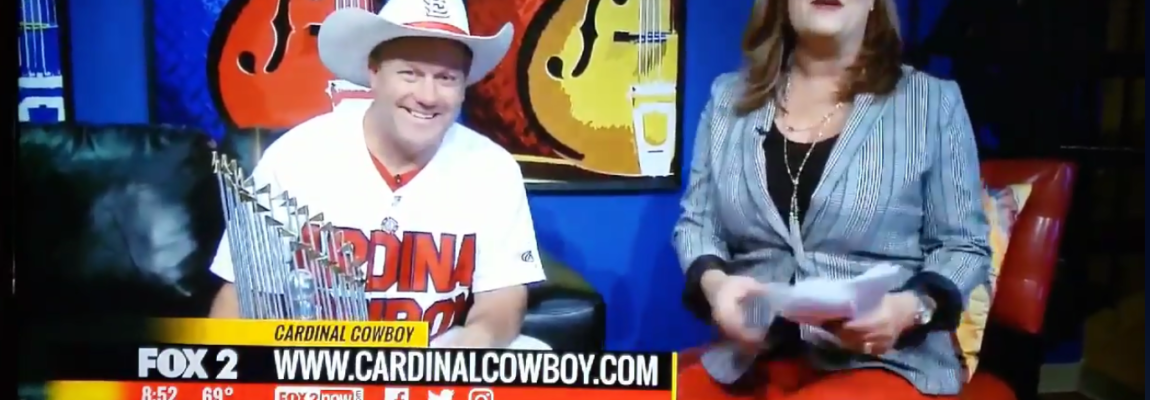 The Cardinal Cowboy on Fox 2 KTVI! Receives the Service Excellence Award from the Brain Injury Association of Missouri!