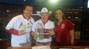 Cowby KSDK Channel 5 Interview Home Opener 2015